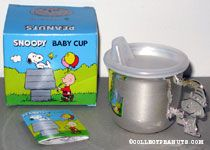 Snoopy wearing birthday hat Baby Cup
