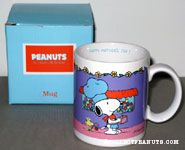 Chef Snoopy and Woodstock with flower 'Happy Mother's Day' Mug