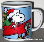 Santa Snoopy in plane mug