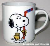 Snoopy Holding Hockey Stick 'Snoopy's  Senior World Hockey Tournament 1981' Mug