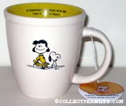 Snoopy sitting next to Lucy 'If everybody agreed with my, they'd be right!' Mug