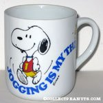 Snoopy 'Jogging is my thing' Mug