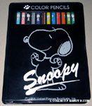 Snoopy Colored Pencils in Black Case