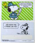 Snoopy detective 'One could search the world through and never find a friend like you.' Wallet Greeting Card
