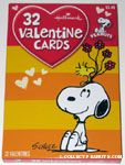 Woodstock holding flowers on Snoopy's head  Classroom Valentines