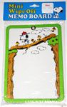 Beaglescout Snoopy & Woodstock on log bridge Mini Wipe Off Memo Board