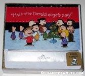 Peanuts Gang singing around Christmas tree Box of Cards