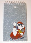 Native Bowling Snoopy Spiral Notebook