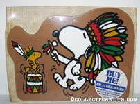 Snoopy and Woodstock Native Americans Cork Board