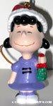 Lucy holding mistletoe Ornament
