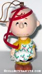 Charlie Brown caught in wrapping paper and ribbon Ornament