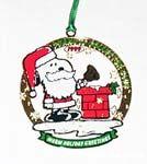 Snoopy as Santa ringing Bell