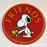 Snoopy & Woodstock shaking hands 'Friends' Button