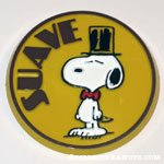 Snoopy in top hat 'Suave' Button
