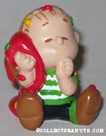 Linus with blanket draped in Christmas lights PVC Figurine