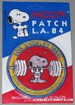 Snoopy lifting dumbell Patch