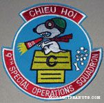 Flying Ace on Doghouse 'Chieu Hoi 9th Special Operations Squadron' Patch