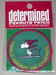 Snoopy skiing 'World Famous Ski Champion' Patch