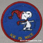 Snoopy ice skating 'Ice is Nice' Patch