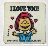Peppermint Patty 'I Love You' Patch