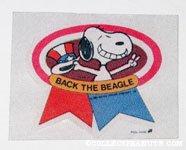 Snoopy 'Back the Beagle' Patch