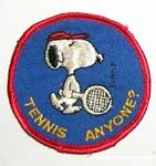 Snoopy with Tennis Racket Patch
