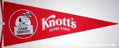 Peanuts & Snoopy Knott's Pennants