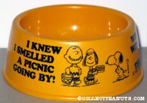 Snoopy & Charlie Brown 'I knew I smelled a picnic going by' Yellow Dog Dish