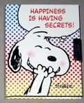 Snoopy laughing 'Happiness is having secrets' Diary