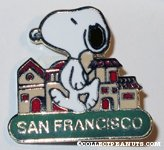 Snoopy walking by city 'San Francisco' Pin