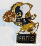 Football Player Snoopy 'Rams' Pin
