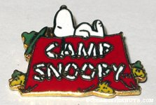 Beaglescout Snoopy & Woodstock on tent 'Camp Snoopy' Pin