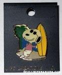 Snoopy Joe Cool with Surfboard Pin