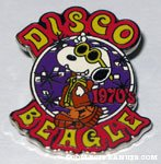 Snoopy in Leisure Suit 'Disco Beagle 1970' Pin