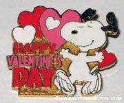 Snoopy dancing 'Happy Valentine's Day' Pin