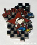 Snoopy crooning with microphone 'Jammin' 1950's' Pin
