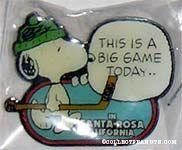 Snoopy with Hockey Stick