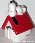 Snoopy laying on doghouse Planter