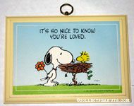 It's so nice to know you're loved Plaque
