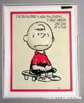 Charlie Brown 3-D greeting card