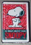 Snoopy looking over shoulder Playing Cards