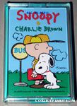 Snoopy hugging Charlie Brown at bus stop Playing Cards