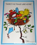 Woodstock in Nest 'There's no place like home' Poster