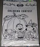 A&W Root Beer Great Pumpkin Coloring Display Contest Pad