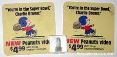 'You're in the Super Bowl, Charlie Brown' Video Display with hook