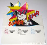 'Snoopy Superstar Trading Card Display