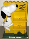 'Snoopy dancing in front of yellow fence Timex Watch Counter Display