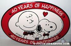 '40 Years of Happiness Logo Display