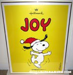 Snoopy Dancing 'Joy' Hallmark poster