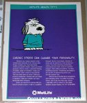 Chronic Stress Snoopy Metlife Magazine Ad